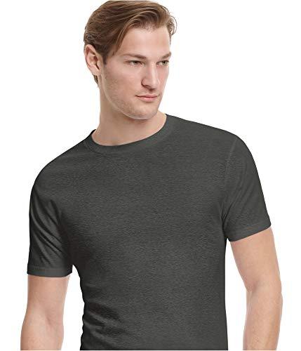 Alfani Mens Short Sleeve Heathered T-Shirt Gray XXL from Alfani