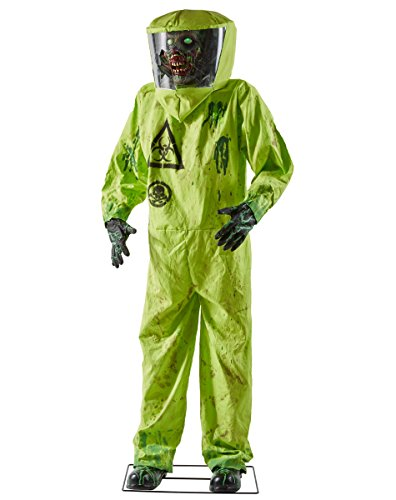 spirit halloween 5 ft hazmat zombie animatronics decorations