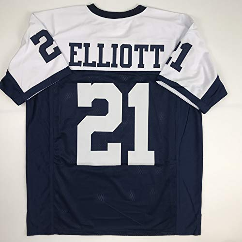 07af13d3a Unsigned Ezekiel Elliott Dallas Thanksgiving Day Custom Stitched Football  Jersey.