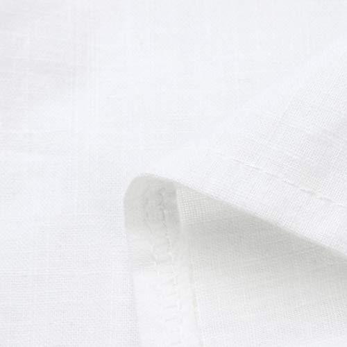 Robe De Smtsmt Femmes, Manches Longues Occasionnels Femmes Bouton V-cou Basculer Vers Le Bas Robe De Soirée Mini Robes Robe De Soirée Sexy Avec Jupe Robe Blanche Sans Manches