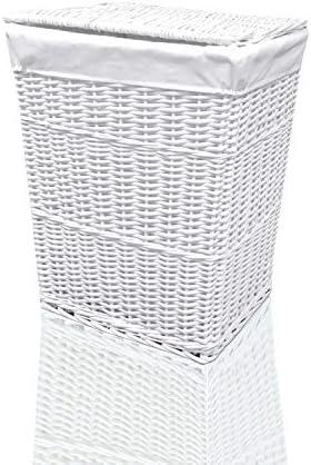 ARPAN Cesta para la Colada (Mimbre), Color Blanco, 32LX45WX59H: Amazon.es: Hogar