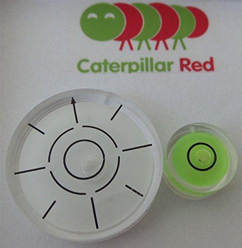 3' Round Bullseye - Twin Pack - Medium & Mini Circular Round Bulls Eye Bubble Level - Tool Clock Hobby Turntable Camera Caravan