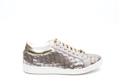 Keys sneakers con paillettes taupe