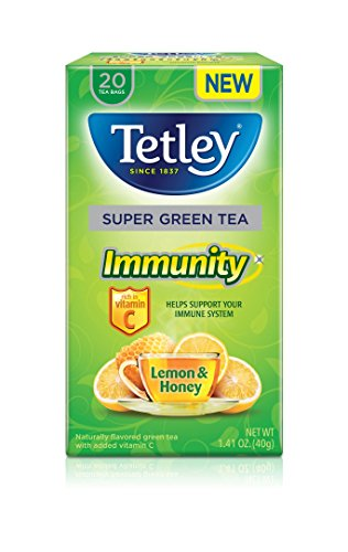 Tetley Super Herbal Tea, Glow, Pineapple & Citrus, 20 Tea Bags (Pack of 6)