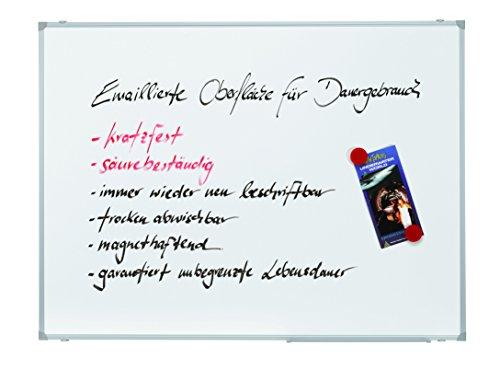 Franken SC2203 Schreibtafel X-tra! Line, magnethaftend, Alurahmen mit Ablageleiste, 120 x 90 cm, emailliert