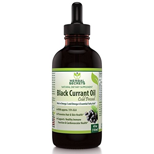 Herbal Secrets Black Currant oil 4 fl oz-Promotes Hair & Skin Health * Supports healthy Immune system* by Herbal Secrets