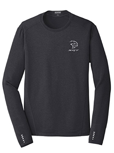 (Dodge SRT Hellcat Men's OGIO Endurance Long Sleeve T-Shirt,Navy,Medium)