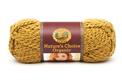 Lion Brand Yarn 480-174C Nature's Choice Organic Cotton Yarn, Olive