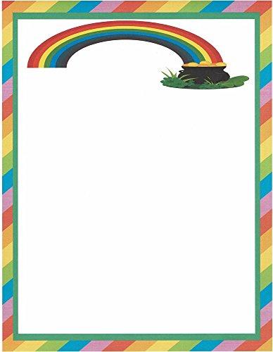 Rainbows & Pots Of Gold Stationery Printer Paper 26 Sheets -