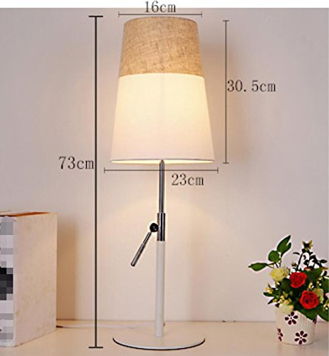 GL&G Modern Adjustable High Protection Eye Lamp Bedroom Study Reading Lighting Creative Fashion Bedside Lamp (Push Button Switch),Coffee,2360CM by GAOLIGUO (Image #6)