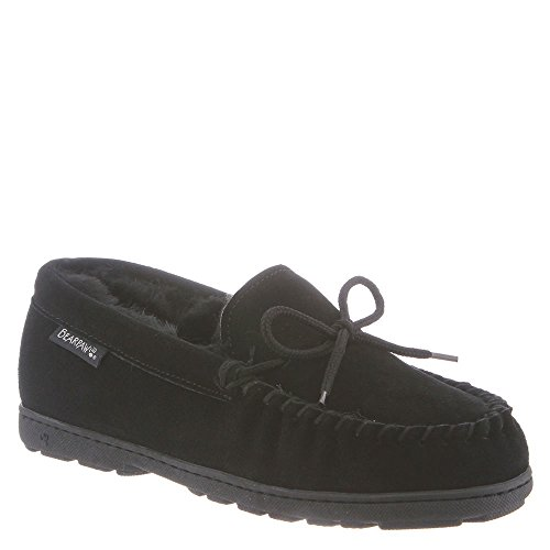 BEARPAW Women's Mindy Moccasin Slipper (6 B(M) US, Black Suede)]()