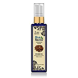 Blue Nectar Ayurvedic Body Massage Bio Oil For Stretch Marks, Scars, Aging & Wrinkled Skin (100 Ml)