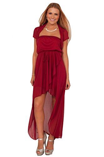 223e5adbce Junior Strapless High Low Tube Dress Shrug Waist Homecoming Prom Party Dress