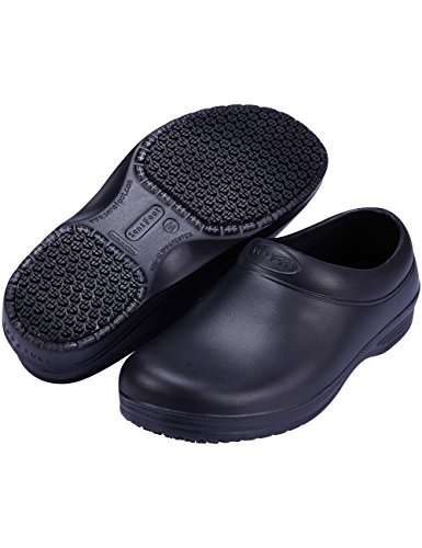 SensFoot Slip Resistant Chef Shoes for Women (9-9.5 M US Women / 7-7.5 M US Men) Black