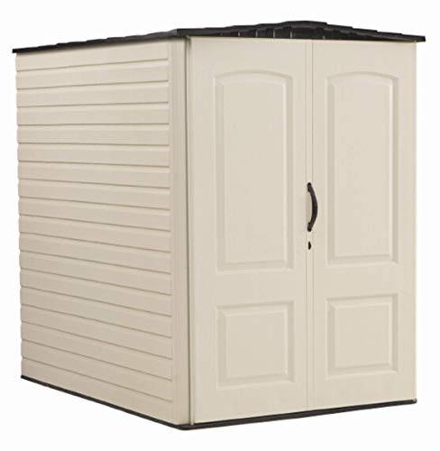 (Rubbermaid Storage Shed 5x6 Feet, Sandalwood/Onyx Roof (FG5L3000SDONX))