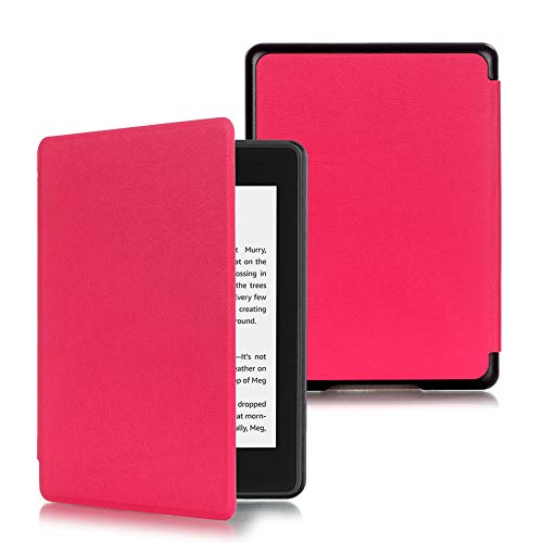 New Kindle Paperwhite 4 Case, Leather Cover (10th Generation-2018) (Rose ()
