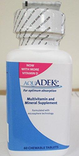 Aquadeks Chewable Tablets Multivitamin & Mineral Supplement 60 ea by AQUADEKS