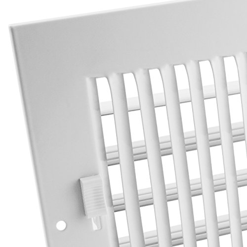 Accord AASWWH2126 Sidewall/Ceiling Register with 2-Way Aluminum Design, 12-Inch x 6-Inch(Duct Opening Measurements), White by Accord Ventilation (Image #4)