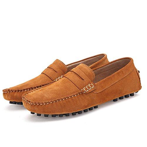 Driving Cuero Casuales Gamuza Shoes Barco Mocasines Mocasines de Hombre Spring Marrón Esthesis Respirables Zapatos Verano de de vwqHtxT