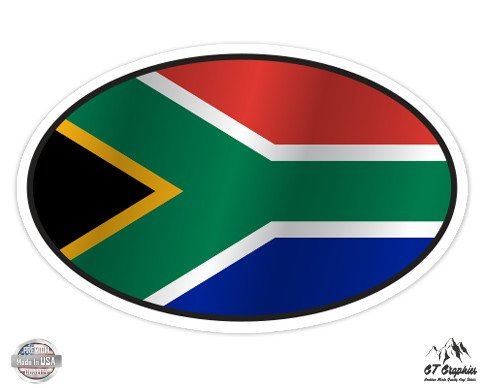 South Africa Flag Oval - 3