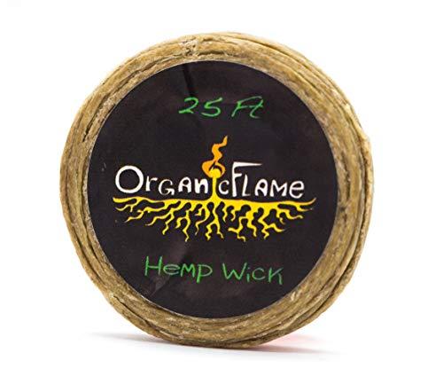25Ft of Organic Hemp Wick by Organic Flame