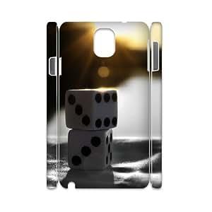 3D Vinceryshop Dice Samsung Galaxy Note 3 Case Sunrise Dice, Antislip Dice, {White}