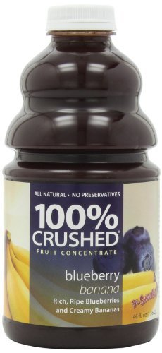 Dr. Smoothie 100% Crushed Fruit Smoothie, Blueberry Banana, 46-Ounce Bottles (Pack of 2) by Dr. Smoothie -