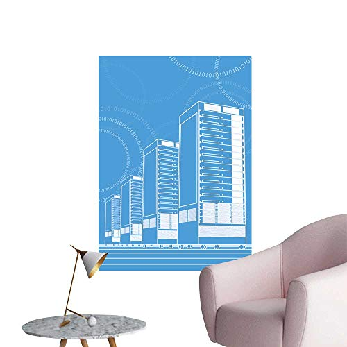 SeptSonne Wall Stickers for Living Room Network Servers in Data Center Vinyl Wall Stickers Print,28