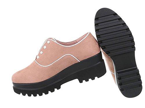 Damen Schuhe Halbschuhe Moderne Altrosa