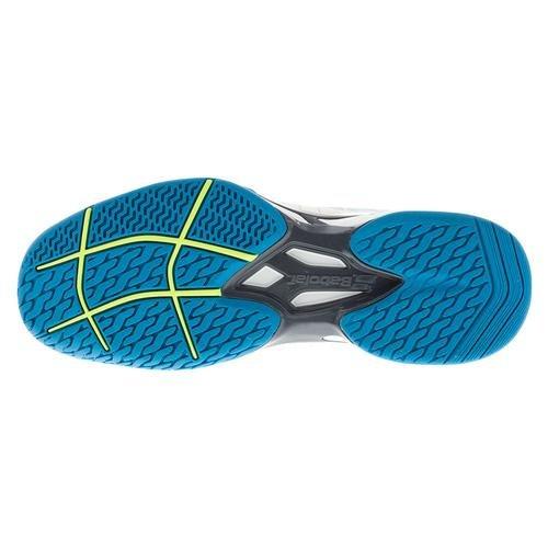 Babolat - Jet All Court Hommes Chaussures de tennis (blanc/bleu) - EU 47 - UK 12