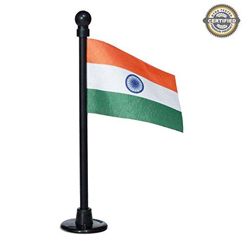 The Flag Shop Indian Miniature Car Dashboard Flag With A Nano Black Plastic Base