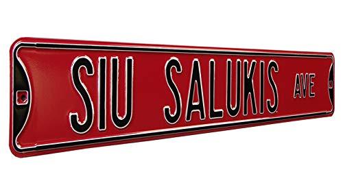 (Southern Illinois  - SIU Salukis Ave, Heavy Duty, Metal Street Sign Wall Decor)