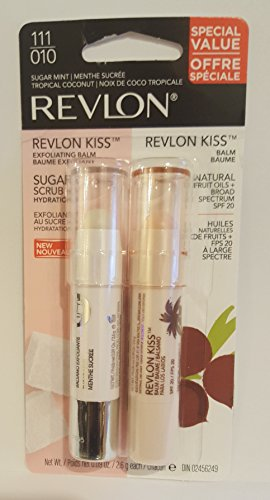 Revlon Kiss Balm Tropical Coconut + Revlon Kiss Sugar Scrub Sugar Mint Duo