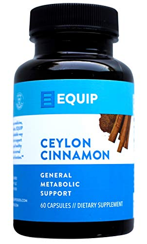 True Ceylon Cinnamon Capsules Pills: Cinnamon Bark Extract Caps Supplement Best for Supporting Healthy Blood Sugar & Circulation Support. Antioxidant Rich, Joint Support Tablets. 1200mg by Equip