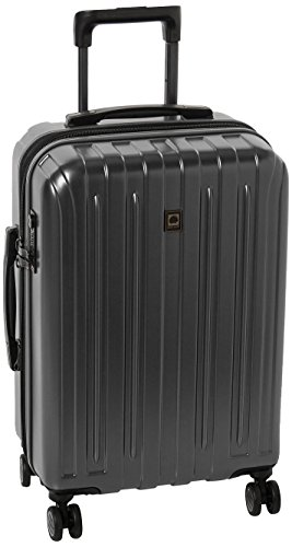 Delsey Luggage Helium Titanium Carry-On EXP Spinner Trolley Metallic, Graphite, One Size