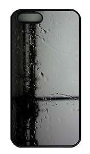 iPhone 5S Case - Customized Unique Design Rain 10 New Fashion PC Black Hard