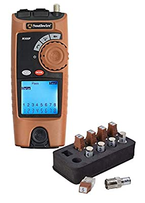 Southwire Tools & Equipment M300P Professional VDV Low Voltage Cable Mapper tool kit, Network Cable Tester, Network tester for testing voice, data, and video products