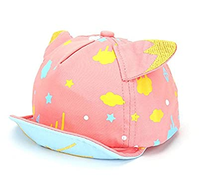BIBITIME Cat Ears Cotton Hat Adjustable Peaked Cap Print Sky Cloud Star Snapback