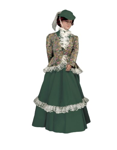 Girl's Laura Ingalls Theater Costume Dress, Large (Colonial Gown Costume)