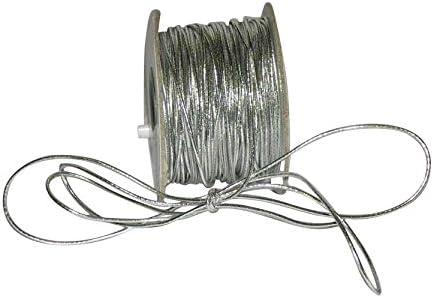 2 mm Gold 50 Yards Cording Ribbon Bazaar Elastic Cord 1//16 inch