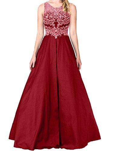A Brautmutterkleider Abendkleider Charmant Weinrot Promkleider Langes Festlichkleider Linie Spitze Damen Abschlussballkleider Lila Rw0Xq60