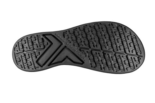 Telic Damenmode Flip Flop Sandale (Made in USA) Mitternachtsschwarz