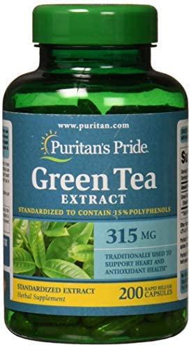 Puritans Pride Green Tea Standardized Extract 315 Mg Capsules, 200 Count 1