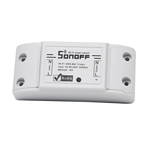 Laqiya Sonoff - ITEAD WiFi Wireless Smart Switch Module ABS Shell Socket...