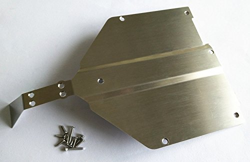 Stainless Steel Chassis Protect Armor Skid Plate For 1/10 Losi Baja Rock Rey CrazyRacer