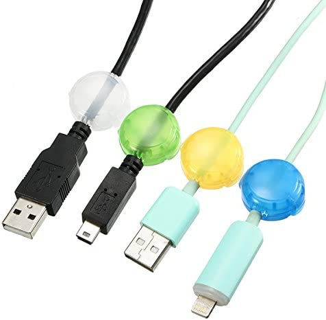 4PCS Colorful Cable Wire Clips Tidy Cable Organizer Cord Management