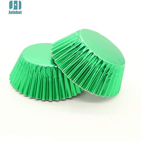 (1 lot 100 pcs/lot Pure Color Gold sliver green blue Foil Paper Cupcake Liners Cupcake wrappers Cake Decorating Tools Baking Cups)