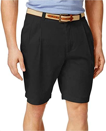 Club Room Mens Shorts, Core Pleated Front Twill India Ink 34