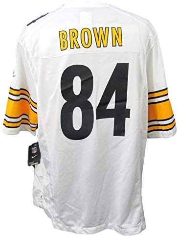 Antonio Brown Pittsburgh White On Field Unsigned Jersey Size XL ...
