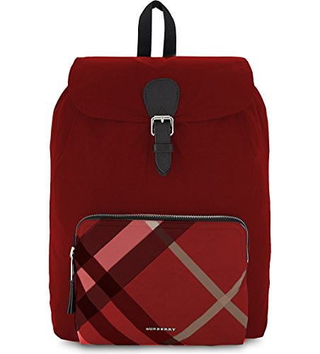 Burberry Red Nylon Packable Backpack